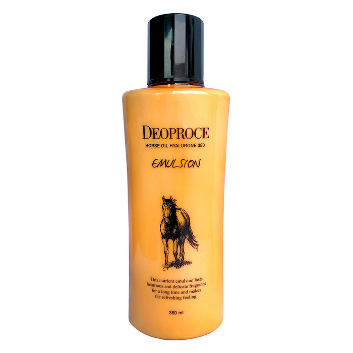 NEW Эмульсия с лошадью и ГК 380мл - DEOPROCE HORSE OIL HYALURONE 380 EMULSION